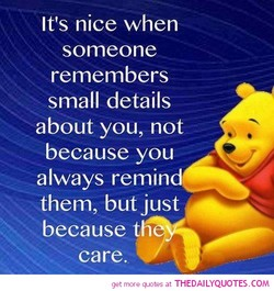 It's nice when