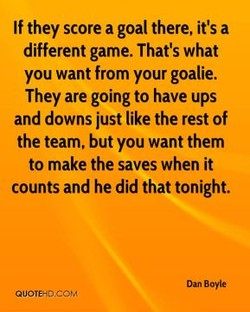 If they score a goal there, it's a 