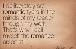 I deliberately set 