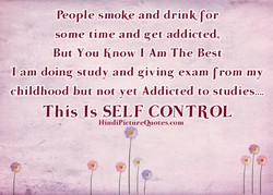 People smoke and drink for 