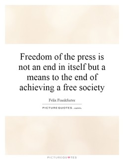 Freedom of the press is 
