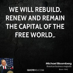 WE WILL REBUILD, 