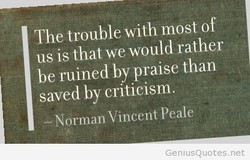 The trouble with most of 