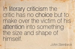 n literary criticism the 
