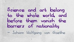 Science and arE belong 
