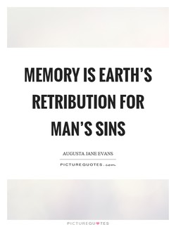 MEMORY IS EARTH'S 