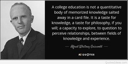 A college education is not a quantitative 