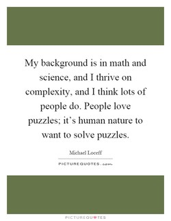 My background is in math and 