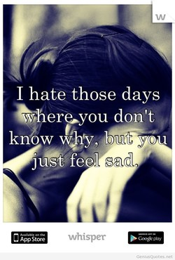 I hate those days 