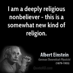 I am a deeply religious 