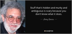 Stuff that's hidden and murky and 