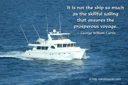 - It is not the ship so much 