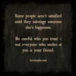 Some people aren't satisfied 
