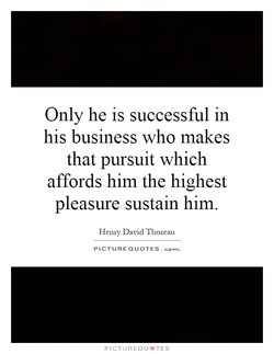 Only he is successful in 