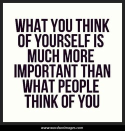 WHAT YOU THINK 