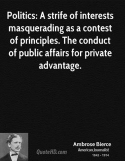 Politics: A strife of interests 