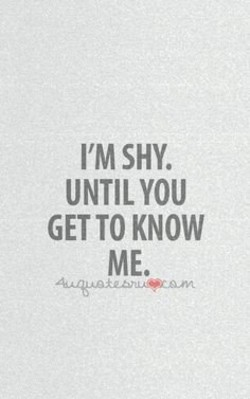 I'M SHY. 