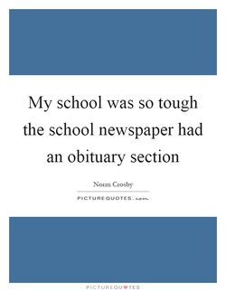 My school was so tough 