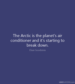 The Arctic is the planet's air 