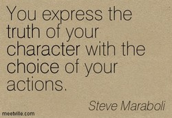 You express the 