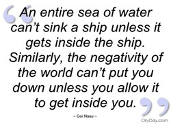 An entire sea of water 