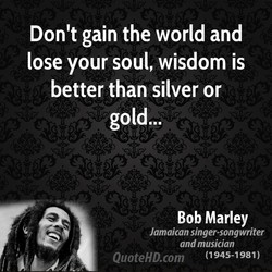 Don't gain the world and 