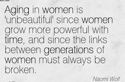 Aging in women is 