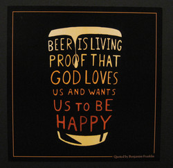 BEER IS LIVING 