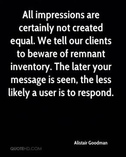 All impressions are 