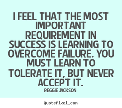 I FEEL THAT THE MOST 