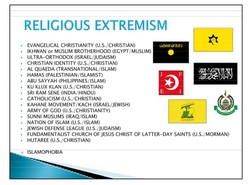 RELIGIOUS EXTREMISM 