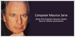 Composer Maurice Jarre 