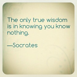 The only true wisdom 