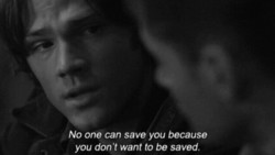 No one can save you because 