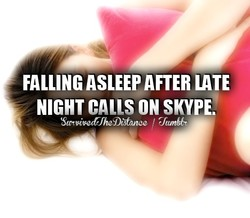 FALLING ASLEEP AFTER LATE 