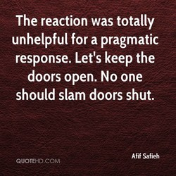 The reaction was totally 