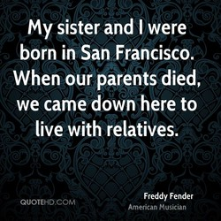 my sister and I were 