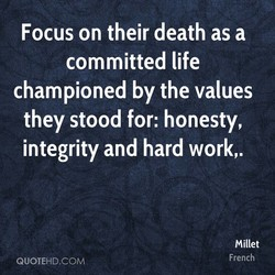 Focus on their death as a 