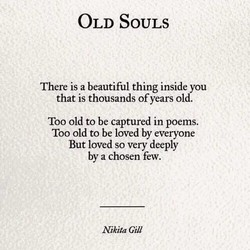 OLD SOULS 