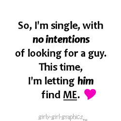 So, I'm single, with 