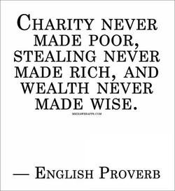 CHARITY NEVER 