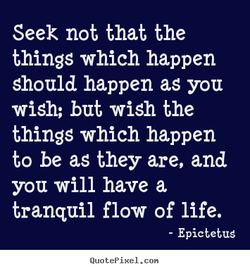 Seek not that the 
