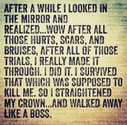 AFTER WHILE I LOOKED IN 
