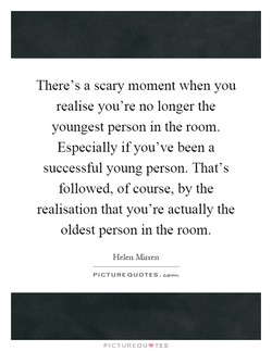 There's a scary moment when you 