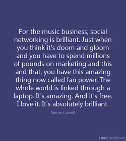 For the music business, social 
