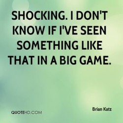 SHOCKING. I DON'T 