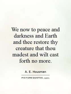 We now to peace and 