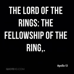 THE LORD OF THE 