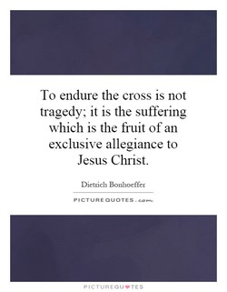 To endure the cross is not 