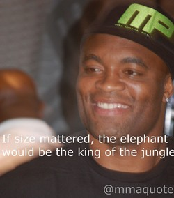 If size mattered, the elephant 